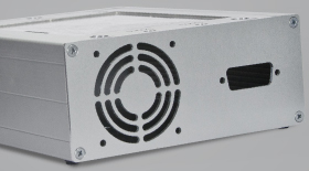 Enclosure with Fan Opening and Breakout for D-Sub Connector