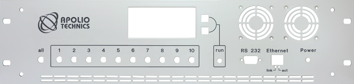 Front Panel with Material and Color Selection
